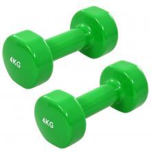 Halter 2 st 8 kg gietijzer groen